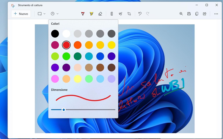 Windows 11 - Strumento di cattura