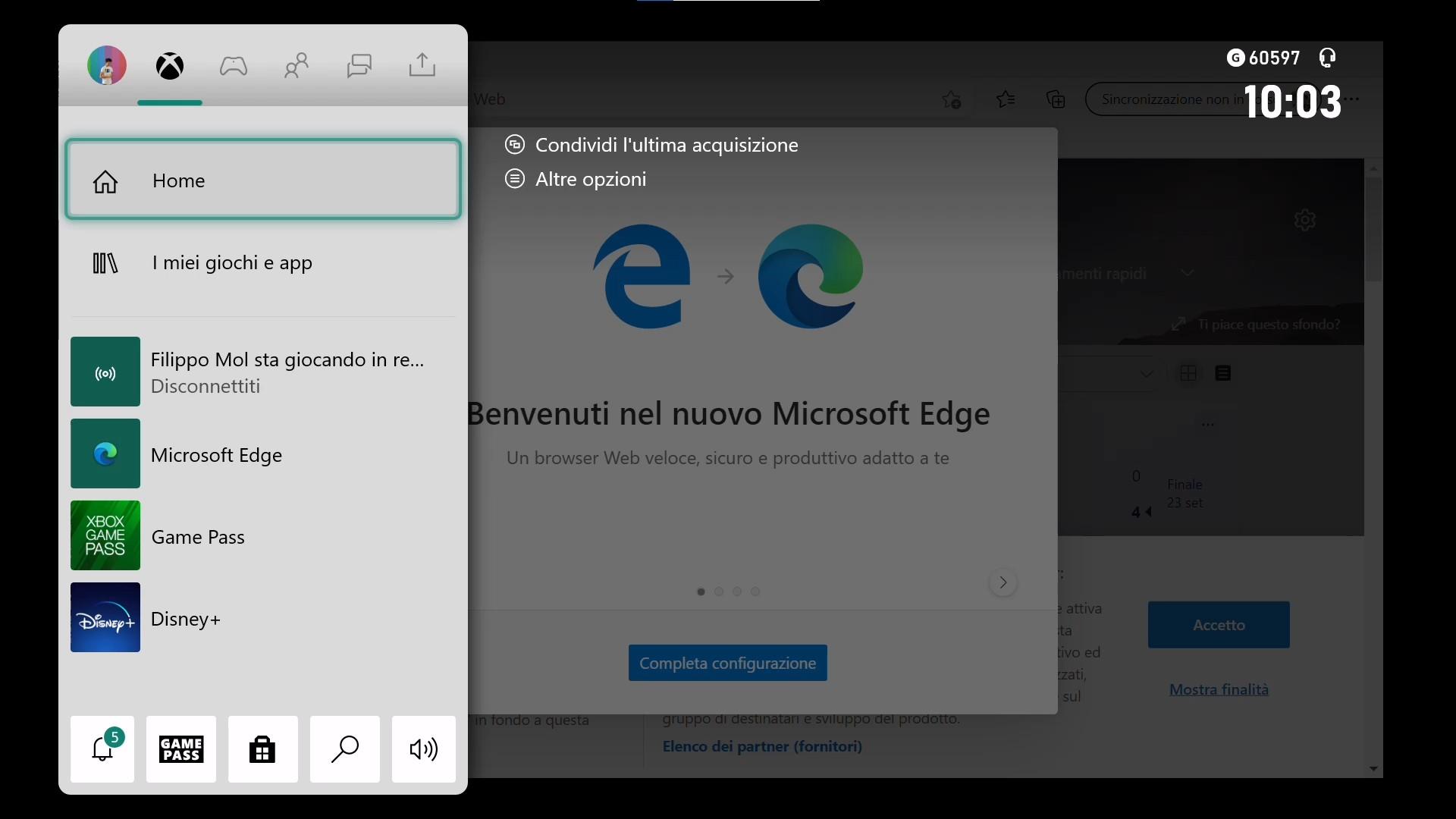 Xbox - Nuovo Microsoft Edge basato su Chromium