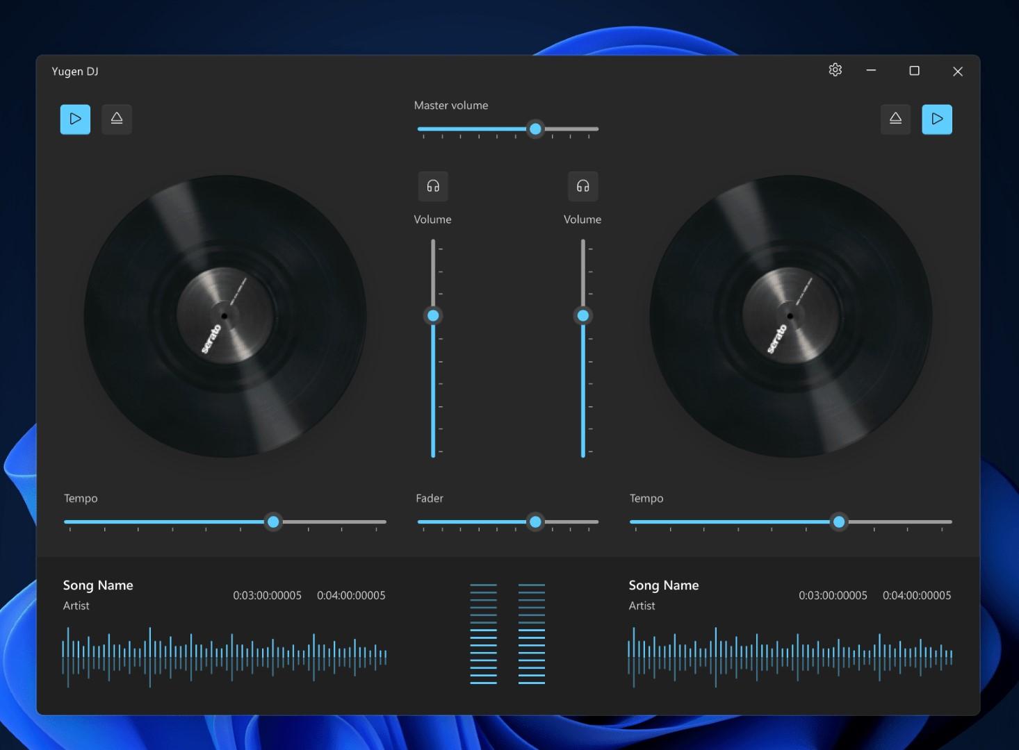 Yugen DJ - App per Windows - App DJ con due sound card