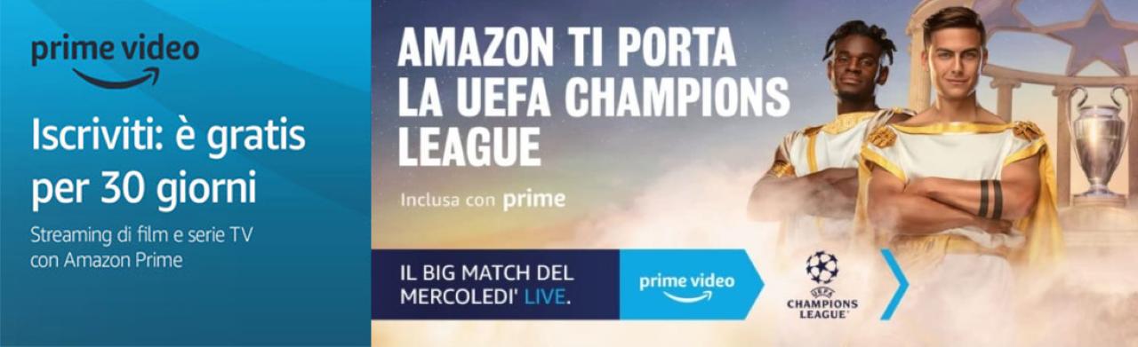 amazon prime video champions league gratis Custom