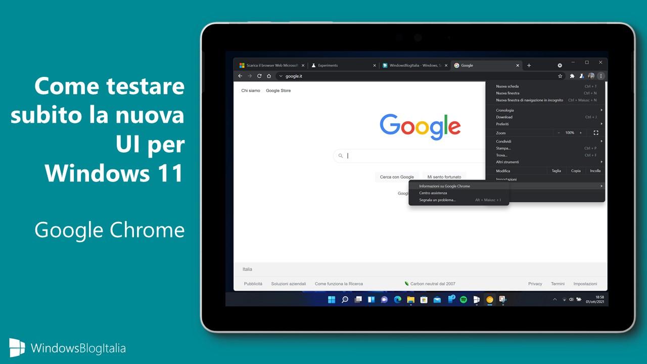 Come testare subito la nuova UI per Windows 11 di Google Chrome