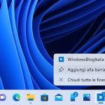 Windows 11 - Barra delle applicazioni - Aggiungi app alla barra delle applicazioni