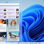 Windows 11 - Widget - Pannello aperto sulla sezione notizie